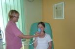 Vlastní samoaplikace pacientkou a výkon může začít...